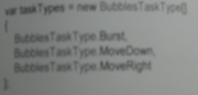BubbleTaskType Enum collection