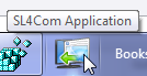 SL4 Com application is closed but still found on the Win7 Taskbar