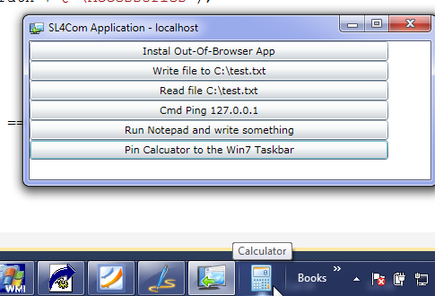 Calculator Pinned to the Win7 Taskbar