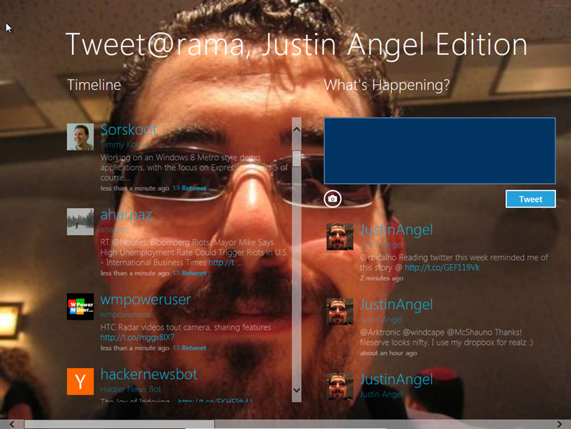 Tweet@rama Justinified visuals post-modification