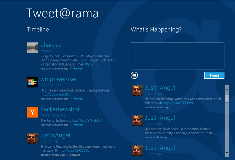 Tweet@rama default visuals pre-modification