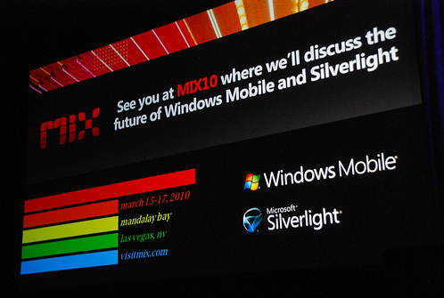 Mix2010 Silverlight and windows mobile