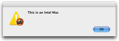 Mac Hello World Alert Box
