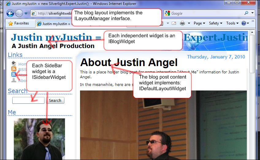Extensibility Silverlight Weblog overview