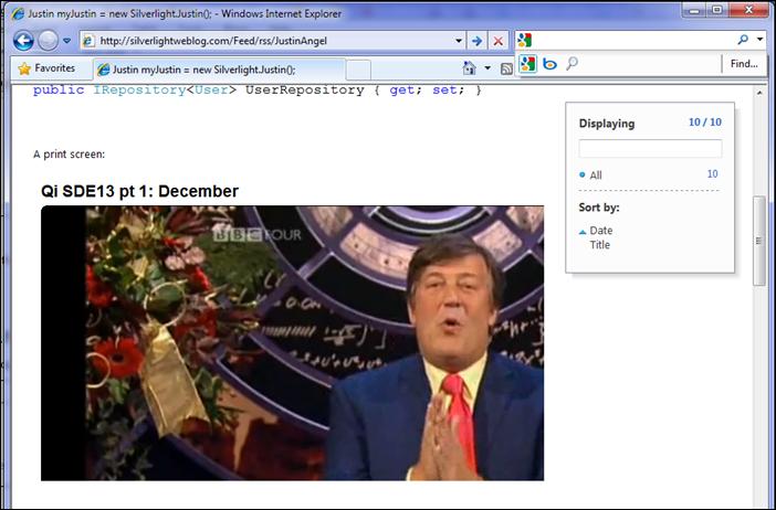RSS Feed Print Screen