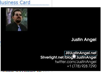 Business Card Widget