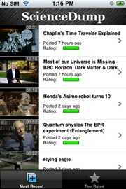 Science Dump iPhone app