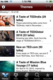 TED iphone app