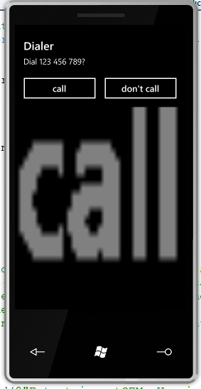 PhoneCallTask - approve dialing phone number