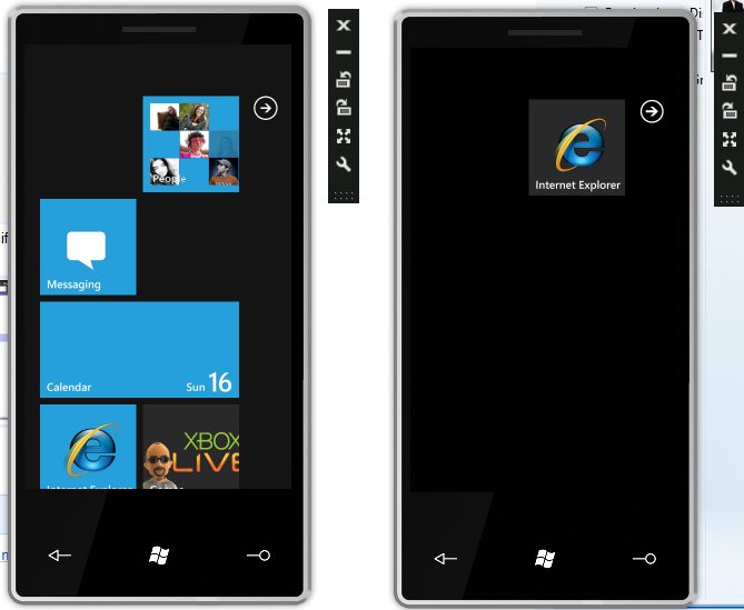 Windows Phone 7 Mix10 Unlocked Rom and Locked ROM side by side