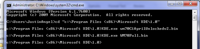 Executing the XDE Emulator