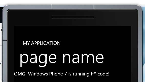 The WP7 emulator running F# code
