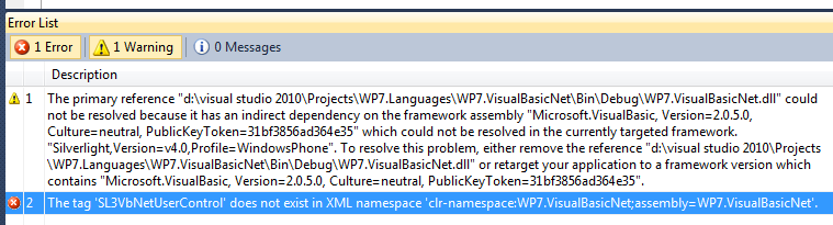 Build errors if the Microsoft.VisualBasic.dll reference is missing